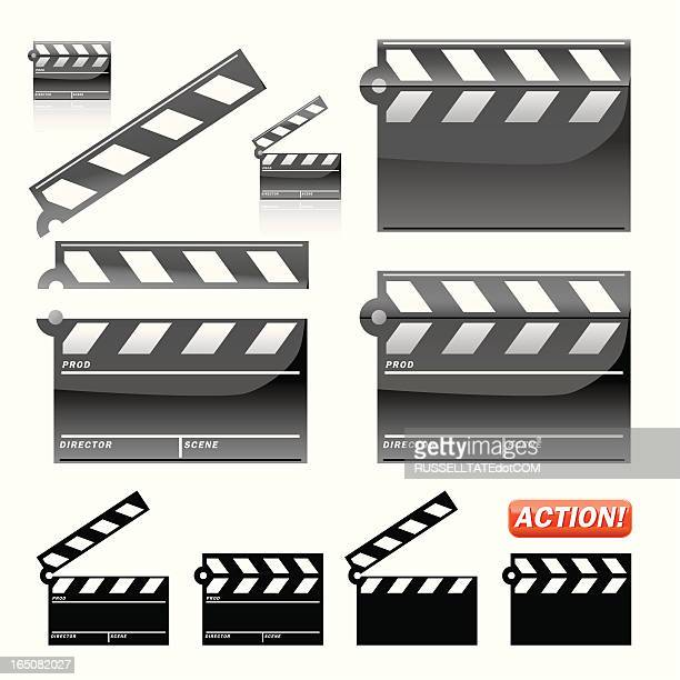 film slate - producer stock illustrations, clip art, cartoons, & icons