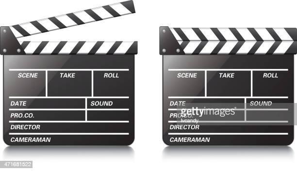 film slate - director stock illustrations