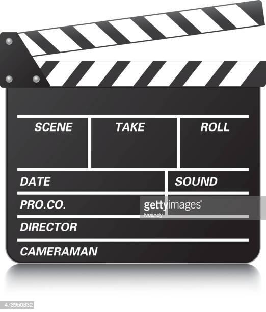 film slate - clapboard stock illustrations, clip art, cartoons, & icons
