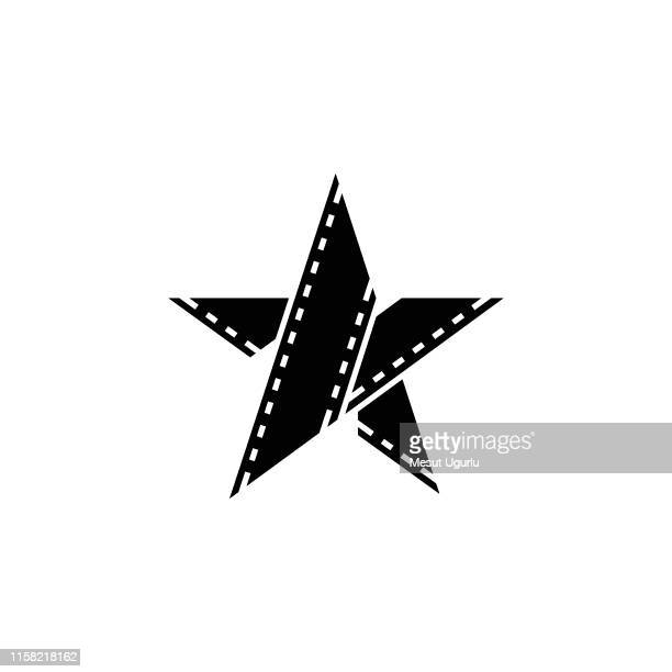 film star logo - film industry stock illustrations