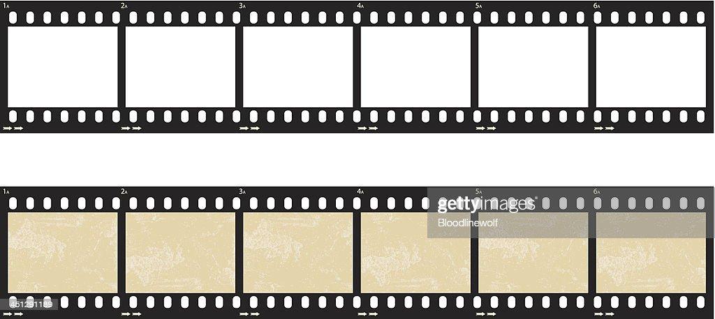 Film Strip Set : stock illustration