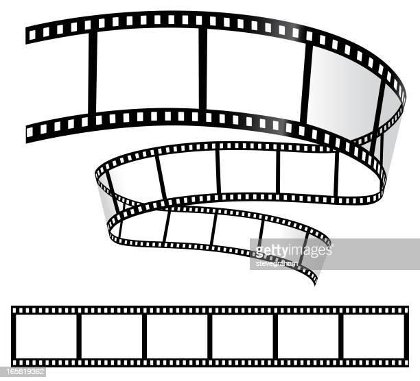 film strips on white - film stock illustrations