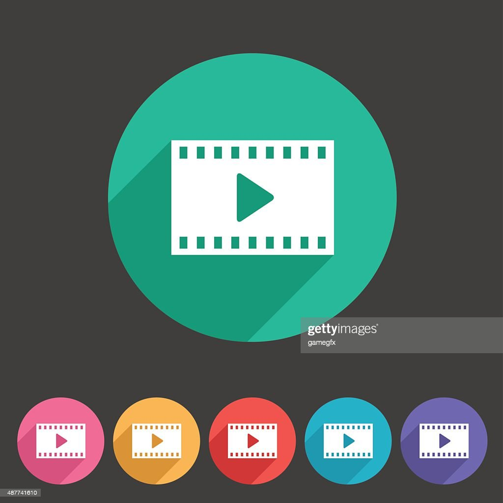 Film video cinema photo icon flat web sign symbol logo