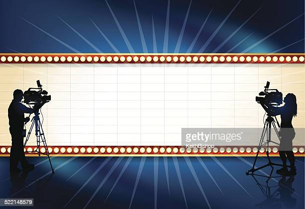 Film Video Television Production Theater Marquee Background