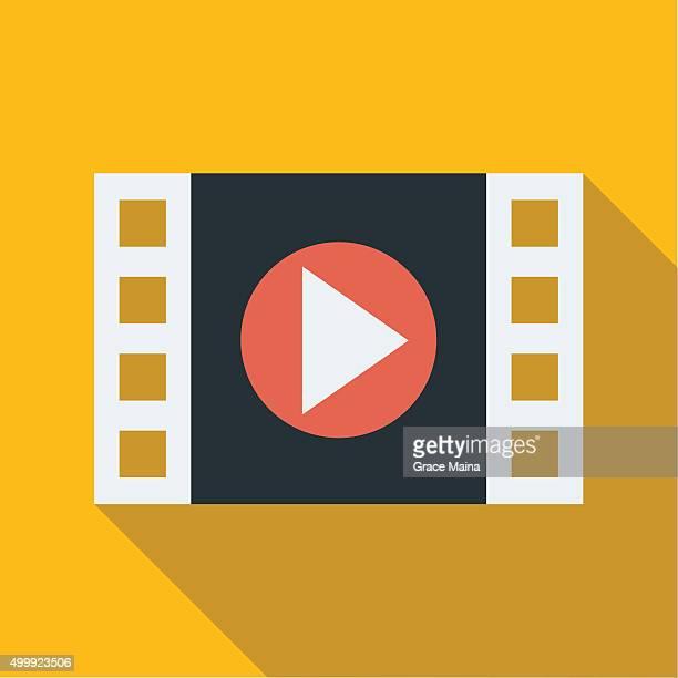 Filmstrip movie play icon - VECTOR