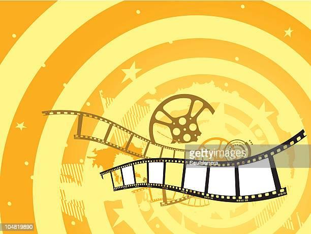 ilustraciones, imágenes clip art, dibujos animados e iconos de stock de filmstrip película - rollo de cine