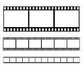 Filmstrip set illustration vector illustration
