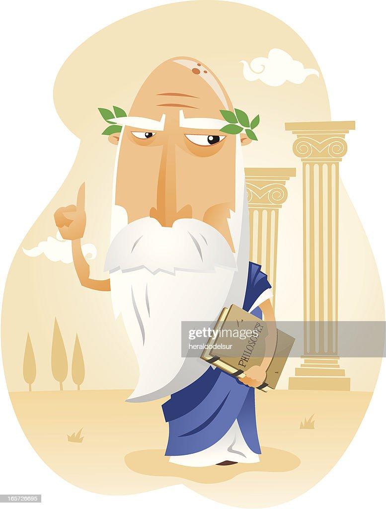 Filósofo de la Antigua Grecia : Stock Illustration