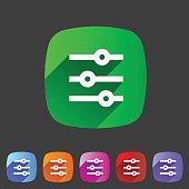 Filter sort settings icon flat web sign symbol logo label
