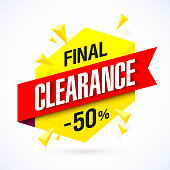 Final Clearance bright banner