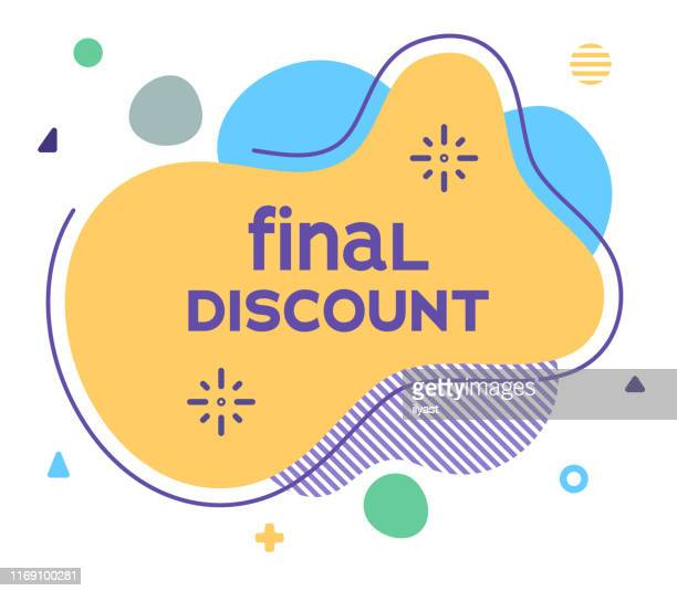 final discount abstract web banner illustration - sports round stock illustrations