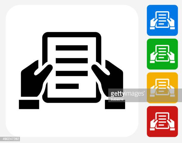 final document icon flat graphic design - holding stock illustrations, clip art, cartoons, & icons