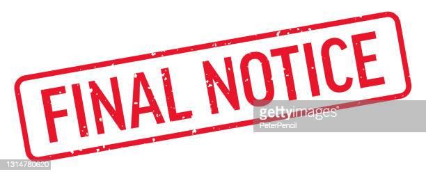 final notice - stamp, imprint, seal template. vector stock illustration - final game stock illustrations