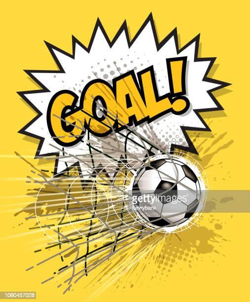 finally goal - soccer goal stock illustrations