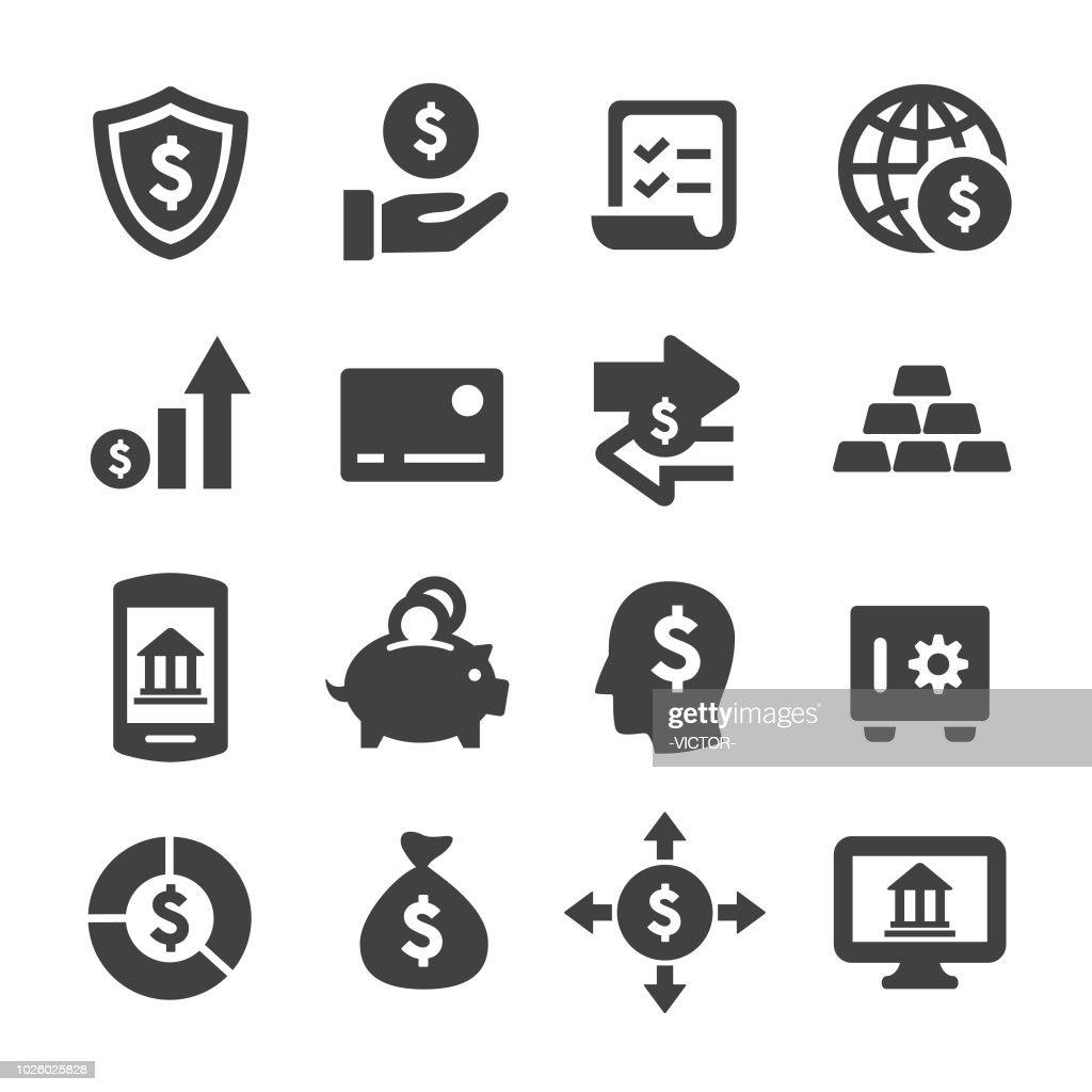 Financiën en bankwezen Icons - Acme serie : Stockillustraties