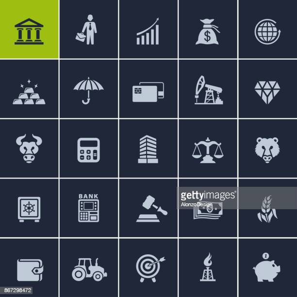 Finance and business flat icons