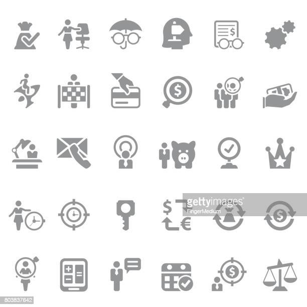 finance and business icon set - piggyback stock illustrations, clip art, cartoons, & icons