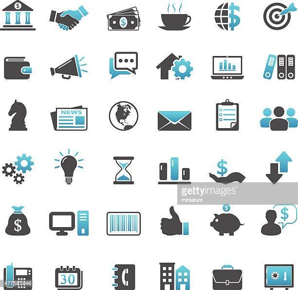 Ícones de finanças e negócios