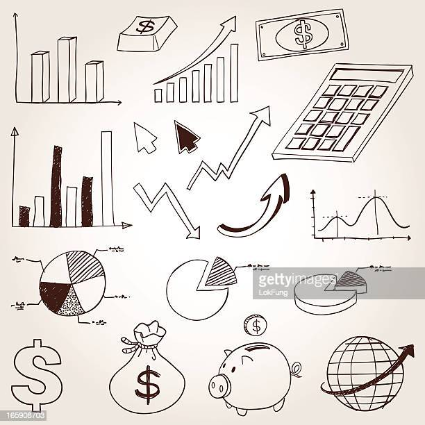 finance and business symbol - pie chart stock illustrations