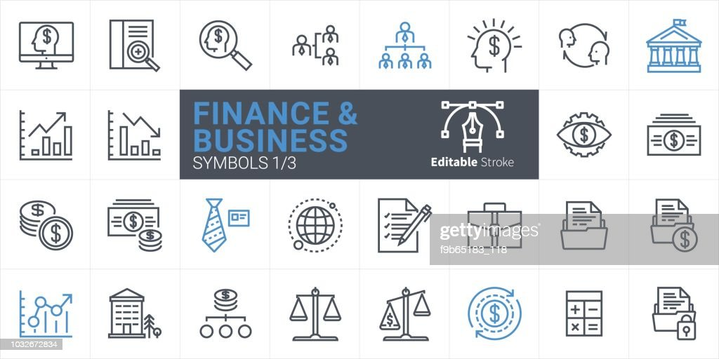 Finance and Business Vector icon
