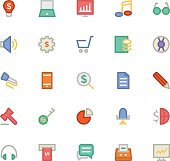 Finance and Money Colored Vector Icons 3