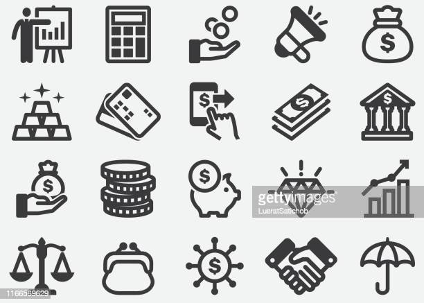 finance and money icons - bribing stock illustrations