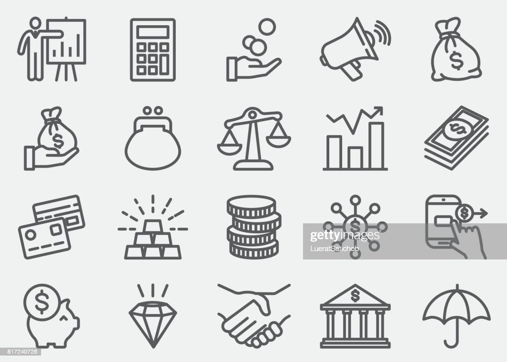 Finanzen und Moneyline Symbole : Stock-Illustration