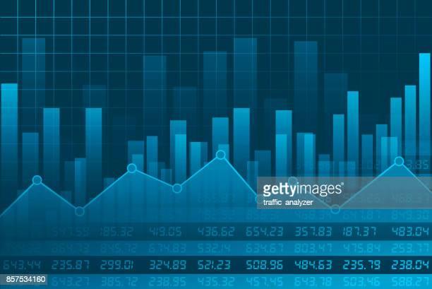 finanzen hintergrund - kurstafel stock-grafiken, -clipart, -cartoons und -symbole
