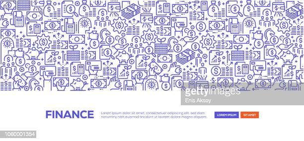 finance banner - financial technology stock illustrations, clip art, cartoons, & icons