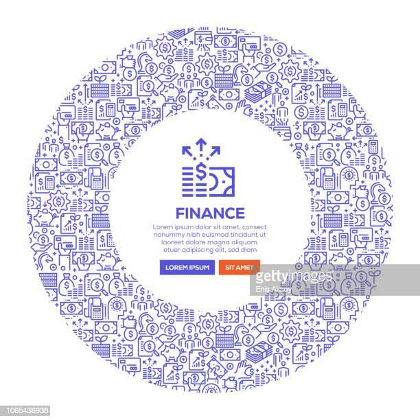 finance banner - cash flow stock illustrations, clip art, cartoons, & icons