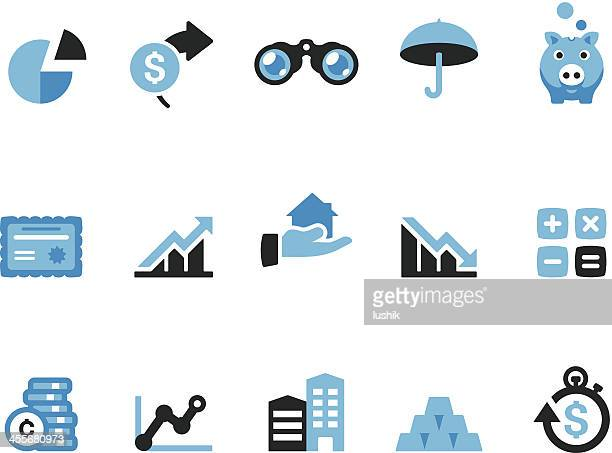 finance / coolico icons - stock certificate stock illustrations