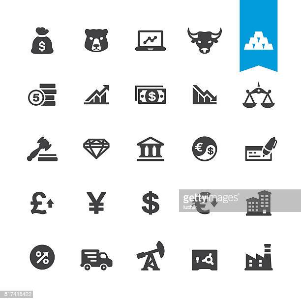 財務& 通貨とアイコンベクトルのサイン