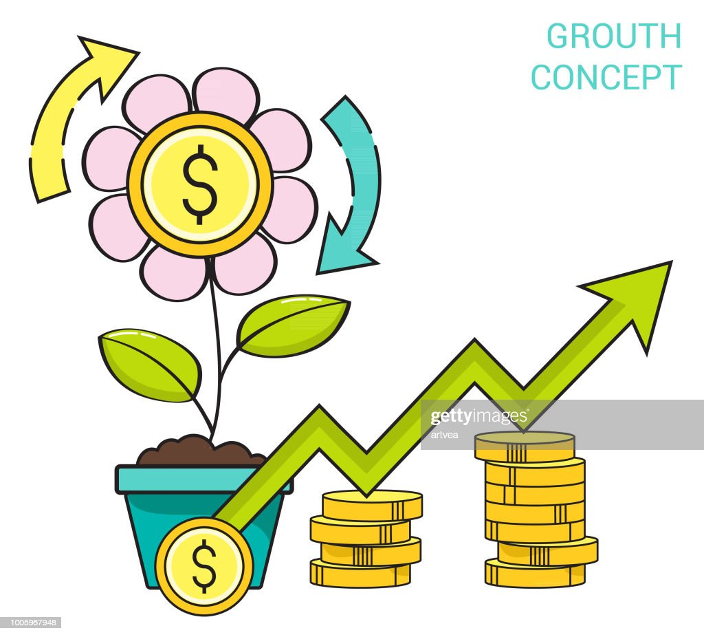 Finance Grouth Conept : stock illustration