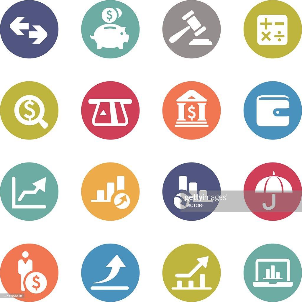 Finance Icon - Circle Series : stock illustration