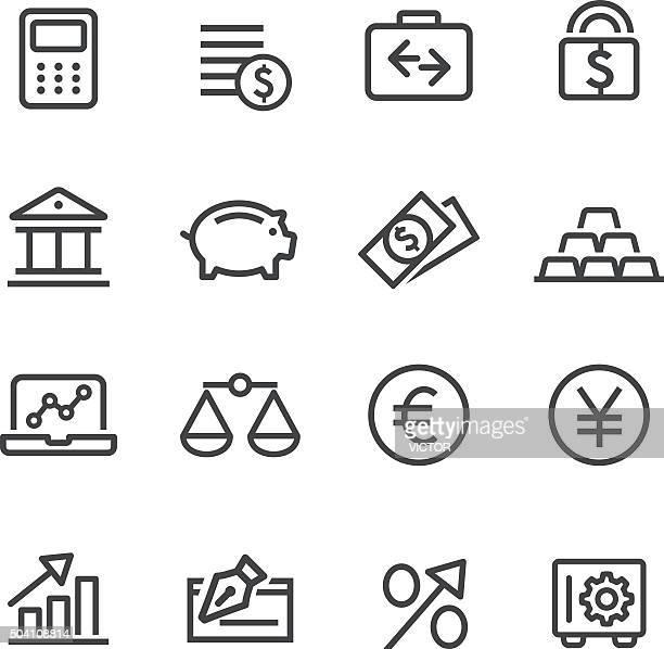 金融のアイコンセットラインシリーズ