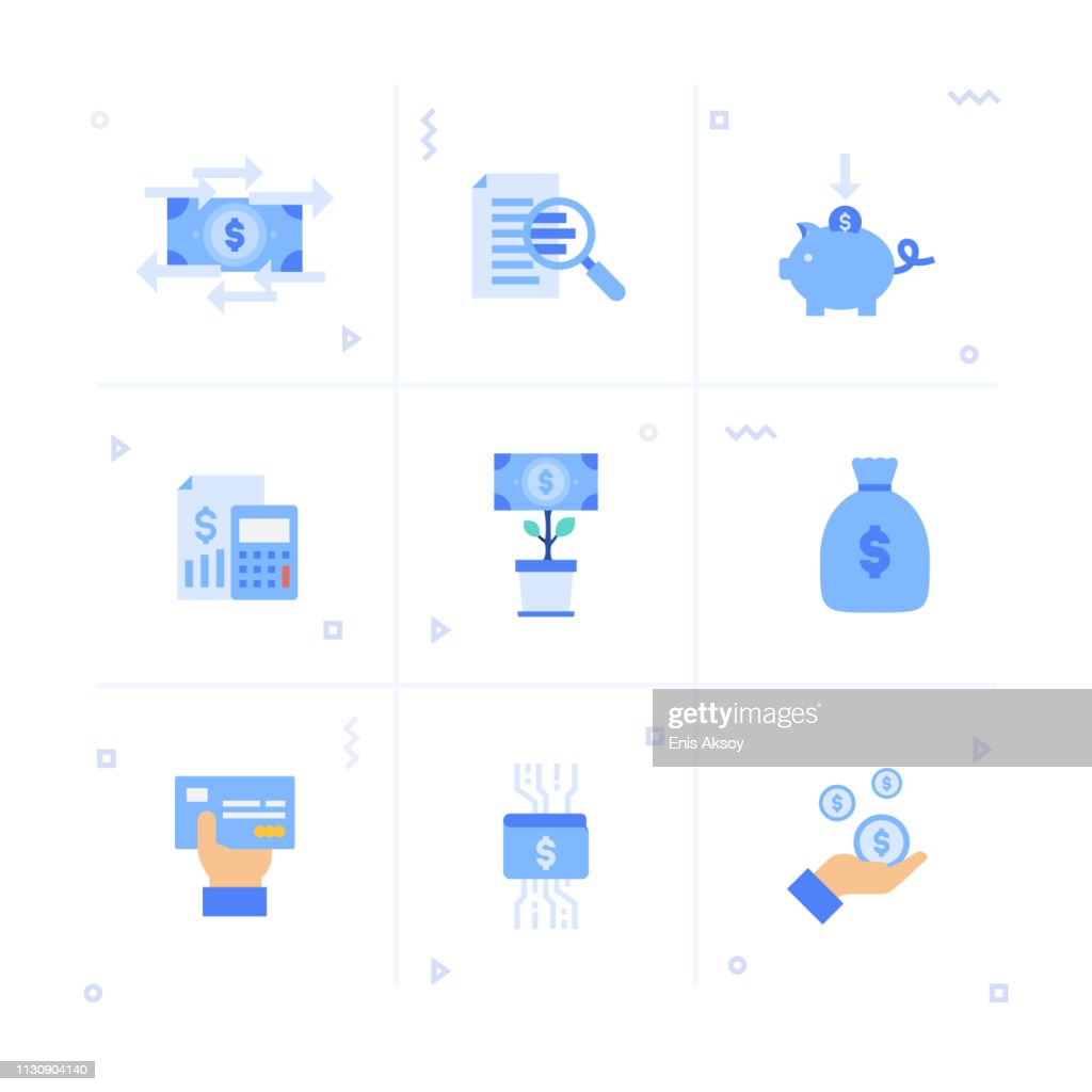 Finance Icon Set : stock illustration