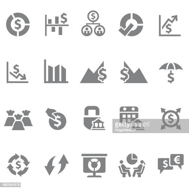 ilustraciones, imágenes clip art, dibujos animados e iconos de stock de conjunto de iconos de finanzas - fajo de billetes