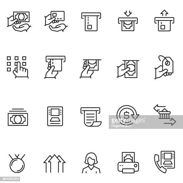 finance icon set - inserting stock illustrations