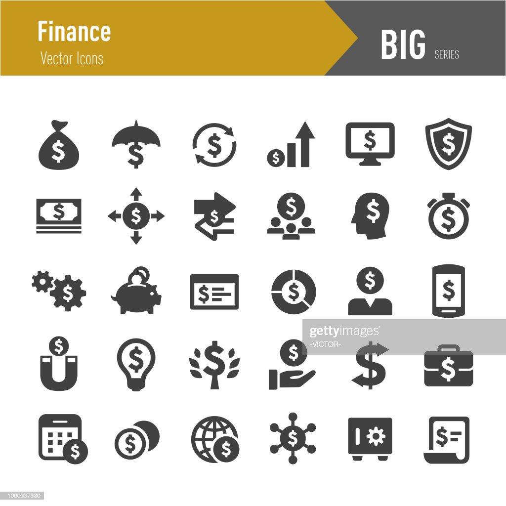 Finance Icons - Big Series : stock illustration