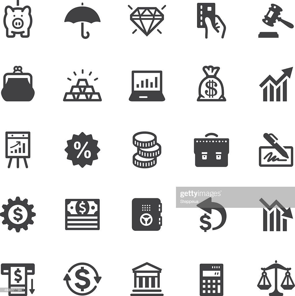 Finance icons - Black series : stock illustration