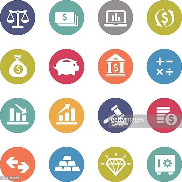 Finance Icons - Circle Series