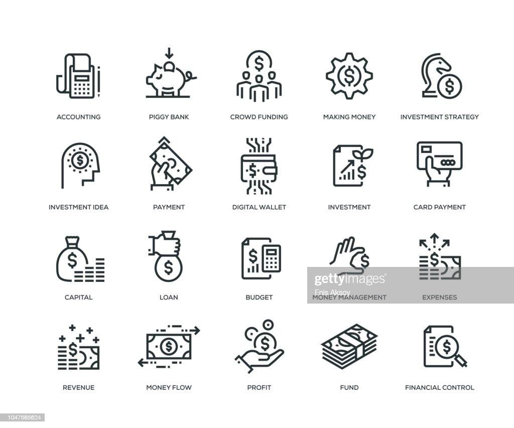 Finanças ícones-Line série : Ilustração