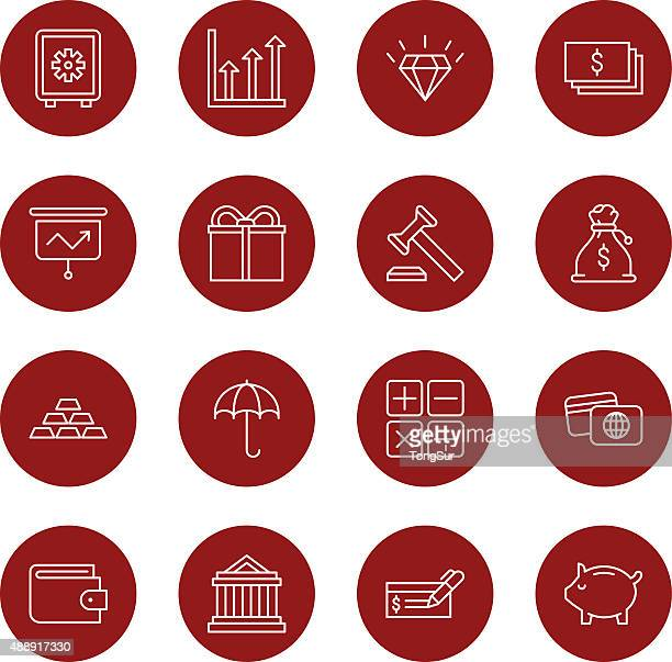 Finance icons | Set 2 - Light - Circle
