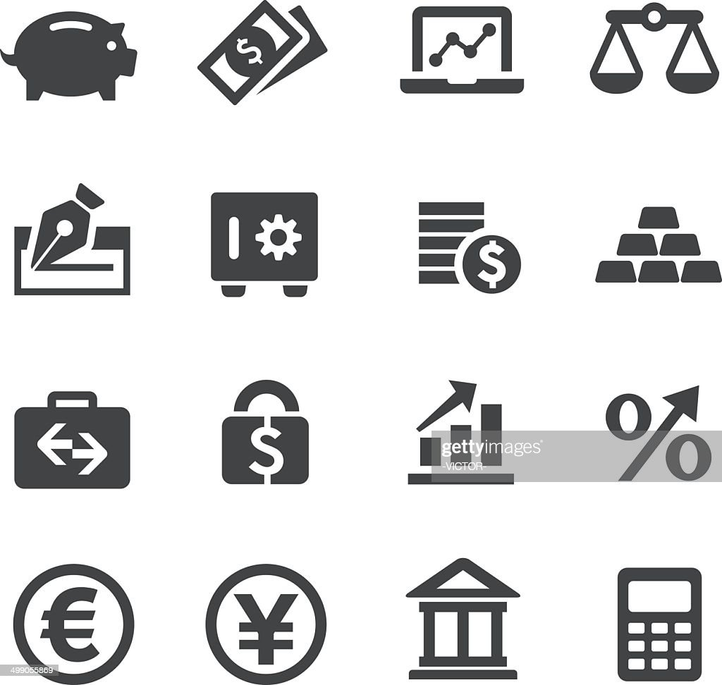 Finance Icons Set - Acme Series