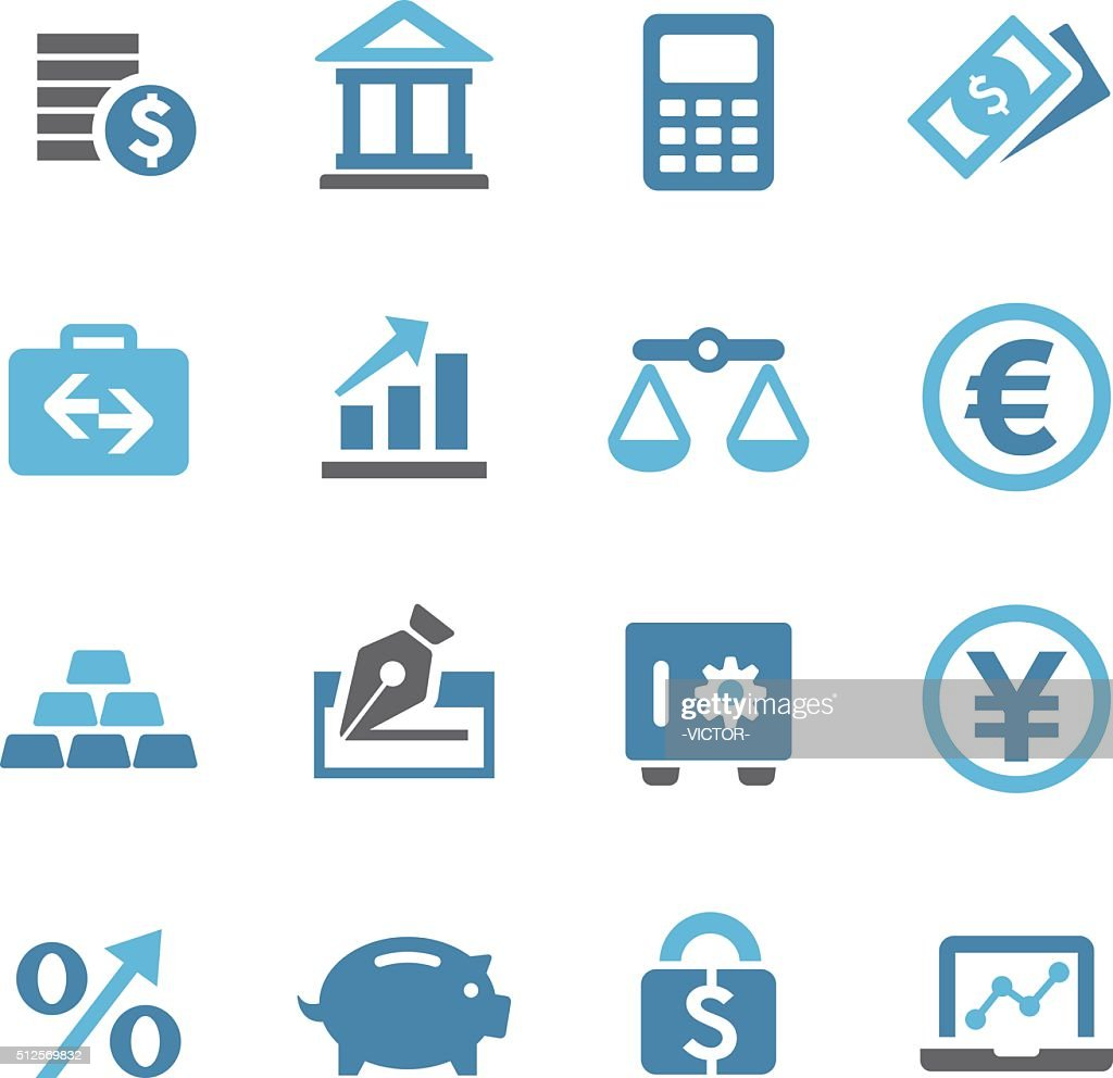 Finance Icons Set - Conc Series