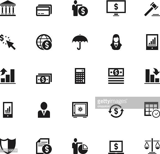 finance icons - american one dollar bill stock illustrations, clip art, cartoons, & icons