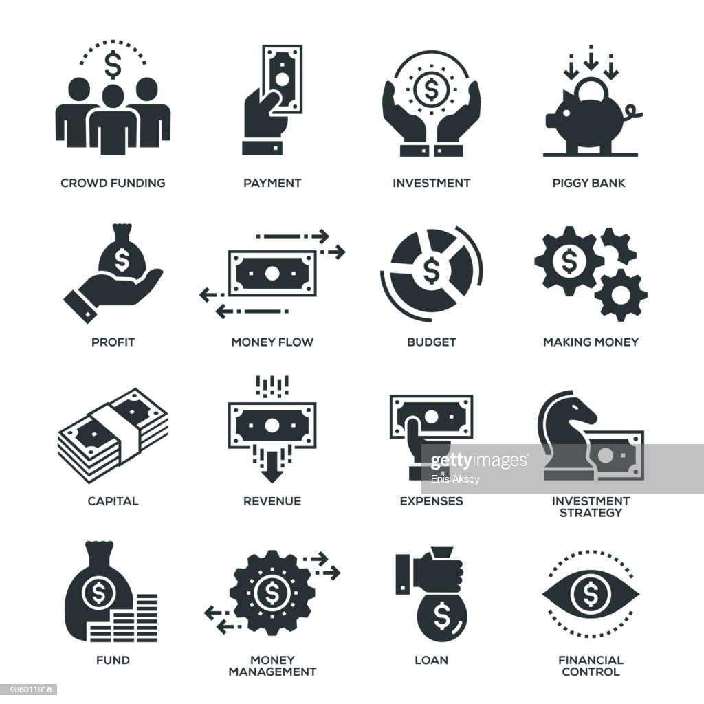 Finance Icons : stock illustration