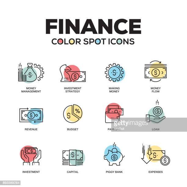 ilustrações, clipart, desenhos animados e ícones de ícones de finanças. conjunto de ícones do vetor linha. qualidade premium. moderna estrutura de tópicos símbolos e pictogramas. - transações bancárias