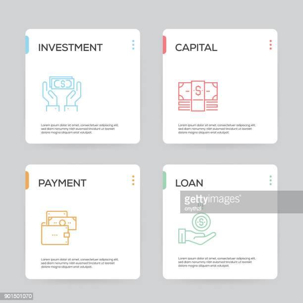 finance infographic design template - cash management stock illustrations, clip art, cartoons, & icons
