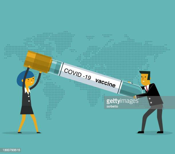 finance injection - businessman and businesswoman - viral shedding stock illustrations